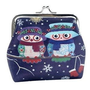 Christmas Owls Coin Purse